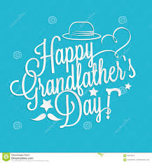 grandfather s happy grandfather s day lettering stock vector illustration of