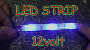 blue led strip lights 12v 12v 5050 led strips youtube