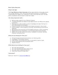 sample resume for retail associate sales associate resume