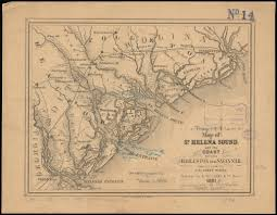 Boston Ferry Map by Map Of St Helena Sound And The Coast Between Charleston And