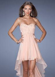 apricot crisscross back open side high low lace short prom dress