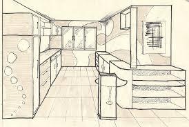 dessiner en perspective une cuisine merveilleux dessin d une chambre en perspective 5 cuisine croquis
