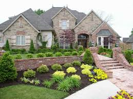 garden designs simple rock landscape front yard design hardscape