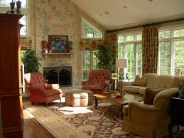 interior french style interior design living room with stone