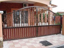 iron gate with wood fence home u0026 gardens geek