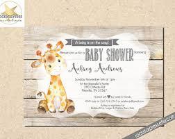 giraffe baby shower etsy