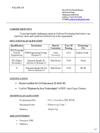 resume format freshers free download document resume sle for freshers doc templates