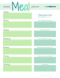 weekly meal planner template madinbelgrade