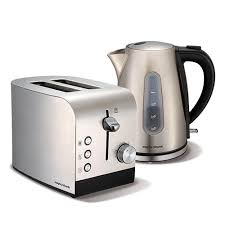 Morphy Richards 2 Slice Toaster Brushed Stainless Steel Accents Jug Kettle And 2 Slice Toaster Set