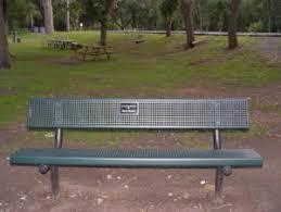Bench Locations In Memory Plaque Memorial Park District