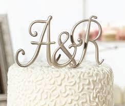 letter cake topper monogram letter cake topper