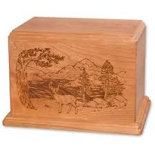 wooden urns for ashes newport deer wooden urns for ashes