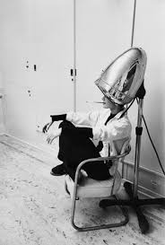 Audrey Hepburn Rug Mark Shaw Audrey Hepburn Under A Hair Dryer 1953 Photograph