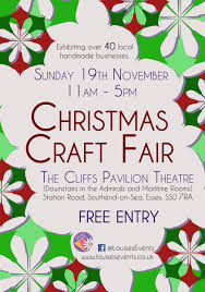 christmas craft fair at the cliffs pavilion on 19 november at 11 00