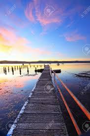 Gosford Central Coast Australia A Pretty Summer Sunset At Yattalunga On The Nsw Central Coast