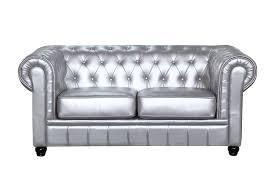 Loveseat Black Leather Fine Mod Imports Chestfield Aristocrat Loveseat Silver Leather