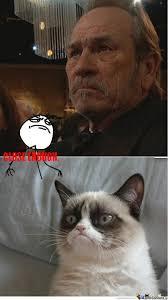 Tommy Lee Jones Meme - tommy lee jones and grumpy cat by diediebydie meme center