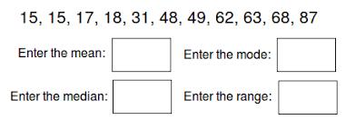 math worksheet activity find the mean median mode range 6