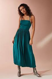 lights you can wear urban outfitters morning light satin midi dress party dresses you