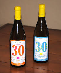 birthday wine customized birthday wine labels lemons and letterpress