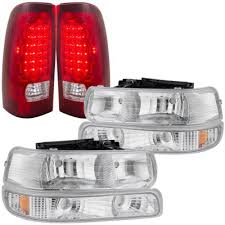 2001 silverado tail lights chevy silverado 2500 1999 2002 chrome headlights and led tail lights