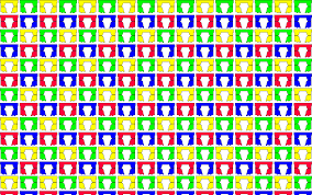 clipart colorful curtains seamless pattern