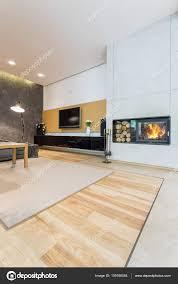 minimalist fireplace living room with minimalist fireplace stock photo photographee
