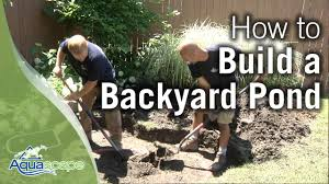 how to build a backyard pond youtube