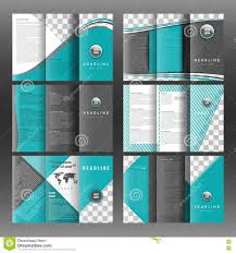 set of corporate trifold brochure templates design with world map