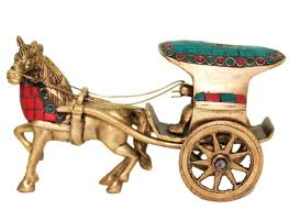 Shop Brass Horse Cart Showpiece Online Horse Showpiece Home - Home decor item