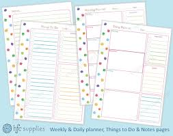 printable planner notes hazel fisher creations rainbow colours and free printable planner page