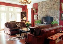 red and brown living room ideas