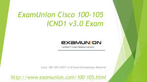 100 105 icnd1 v3 0 cisco ccent exam question from examunion