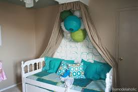 Girls Canopy Over Bed by Big Girls Bedroom Reveal