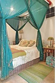 Gypsy Bedroom Decor Collection In Boho Bed Canopy With Boho Curtains Canopies Romantic