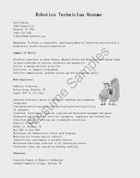 Resume Samples Programmer by Robot Programmer Sample Resume