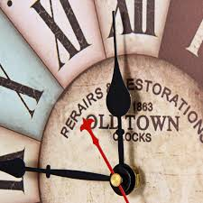 Home Decor London Creative Time Vintage Wall Clocks Colourful London Style Wood