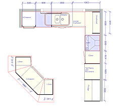kitchen floor plans kitchen design outstanding kitchen floor plan with detail sizes