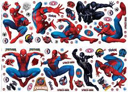 marvel spiderman multicolour self adhesive wall sticker l 700mm