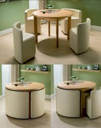 Tiny Dining Tables Round Dining Table U0026 Chairs For Small Homes Space Saving Table