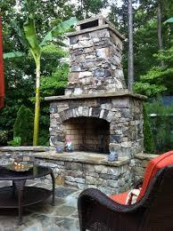 outdoor stone fireplace outdoor stone fireplace kit traditional garden atlanta by