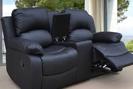Black Leather Sofa Recliner Amazing Reclining Faux Leather Sofa With Cup Holders Storage 3