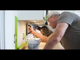 installing a subway tile backsplash for the kitchen youtube