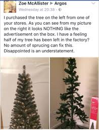 argos christmas tree looks nothing like picture on the box says
