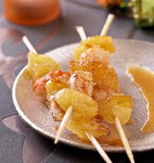 cuisiner l ananas brochettes de gambas et ananas les meilleures recettes de cuisine