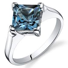 engagement rings with blue stones blue topaz engagement ring sterling silver rhodium nickel