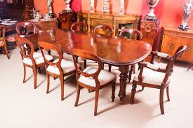 antique victorian walnut dining table u0026 8 balloon back chairs