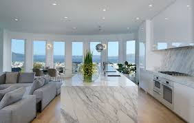modern kitchen marble interior design