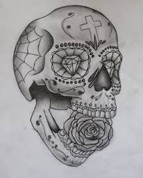 king sugar skull tattoo sketch photo 3 real photo pictures