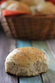 garlic and herb dinner rolls baked by